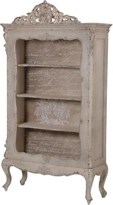 Ornate Distressed Bookcase Baroque Style