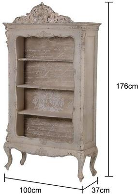 Ornate Distressed Bookcase Baroque Style image 2