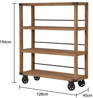 Industrial Wheeled Shelving Unit image 2