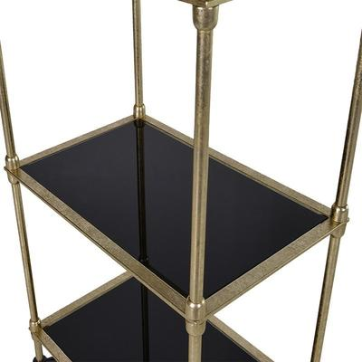 Tall Gold Shelving Unit image 2