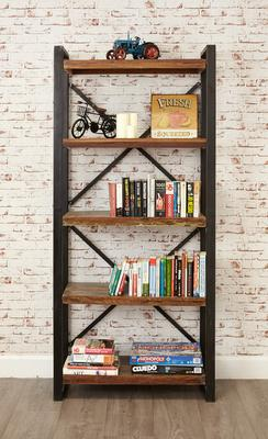 Shoreditch Large Open Bookcase Reclaimed Wood image 3