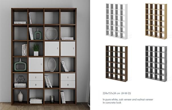 TemaHome Pombal (01) Wall Unit - Matt White, Concrete, Oak or Walnut image 5