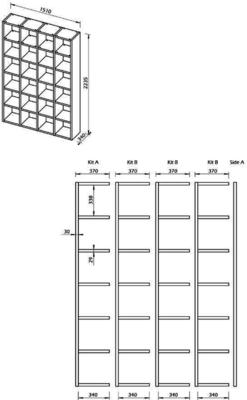 TemaHome Pombal (01) Wall Unit - Matt White, Concrete, Oak or Walnut image 17
