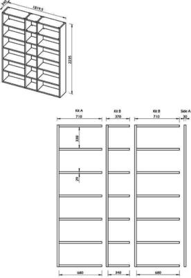 TemaHome Pombal (18) Wall Unit - Matt White, Concrete, Oak or Walnut image 15