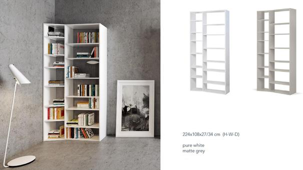 TemaHome Valsa 001 Wall Display Unit - Matt Grey or White image 10