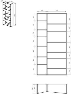 TemaHome Valsa 001 Wall Display Unit - Matt Grey or White image 13