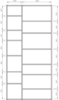 TemaHome Valsa 001 Wall Display Unit - Matt Grey or White image 14