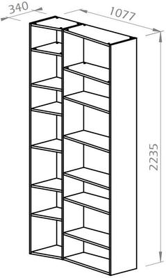 TemaHome Valsa 001 Wall Display Unit - Matt Grey or White image 15