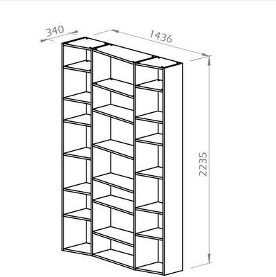 TemaHome Valsa 002 Wall Display Unit - Matt Grey or White image 16
