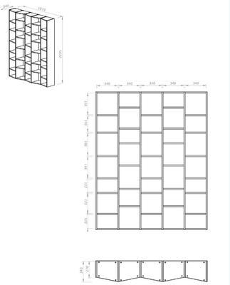 TemaHome Valsa 004 Wall Display Unit - Matt Grey or White image 14