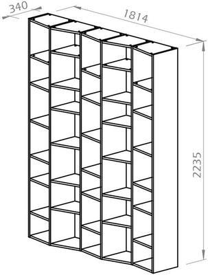 TemaHome Valsa 004 Wall Display Unit - Matt Grey or White image 15