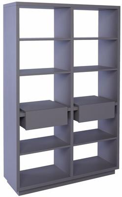 Marlow Modern Bookcase Two Drawers - Matt Stone Lacquer image 2