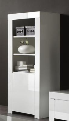 Rimini Collection Small Bookcase - Gloss White