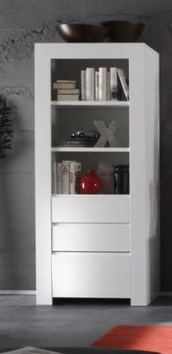Rimini Collection Bookcase with Drawers - White