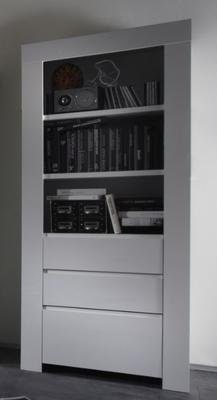Rimini Collection Bookcase with Drawers - White image 2