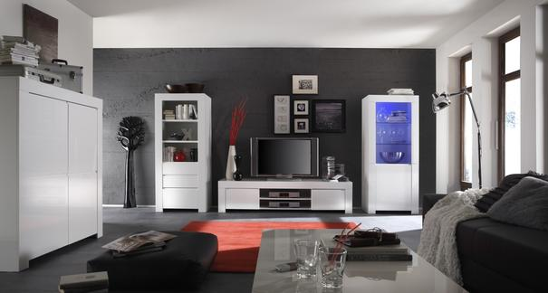 Rimini Collection Bookcase with Drawers - White image 3