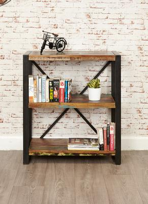 Shoreditch Rustic Low Bookcase Reclaimed Wood image 2