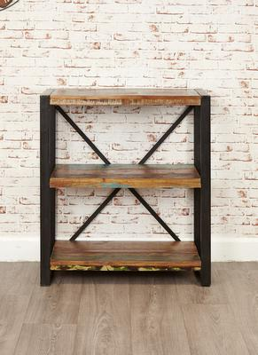 Shoreditch Rustic Low Bookcase Reclaimed Wood image 5