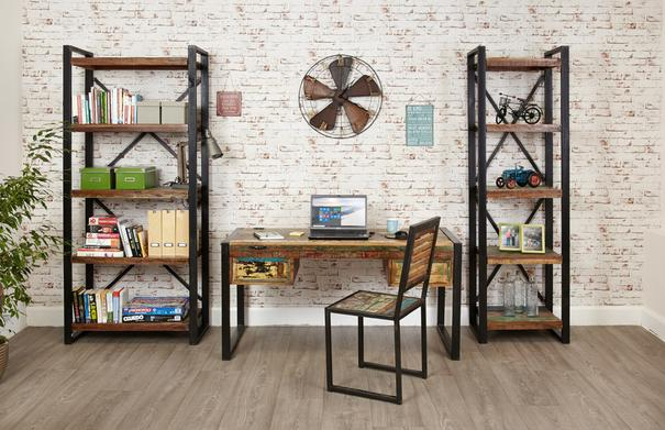 Shoreditch Rustic Alcove Bookcase image 5