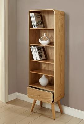 Jual Retro Tall Bookcase One Drawer - Ash or White
