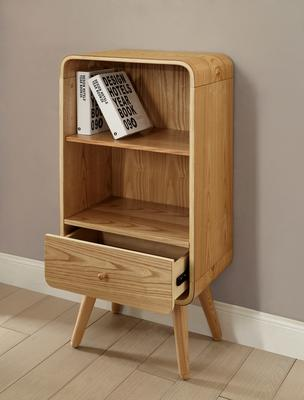 Jual Retro Short Bookcase One Drawer - Ash or White