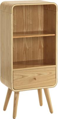 Jual Retro Short Bookcase One Drawer - Ash or White image 3