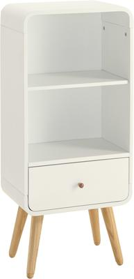 Jual Retro Short Bookcase One Drawer - Ash or White image 4