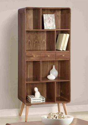 Havana Walnut Wide Bookcase image 2