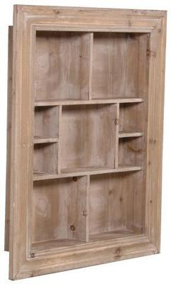 Wooden Multi Shelf Rustic Wall Unit image 2
