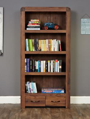Shiro Walnut 2 Drawer Bookcase