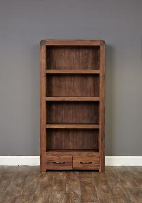 Shiro Walnut 2 Drawer Bookcase image 5