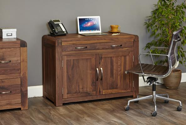 Shiro Walnut Hidden Home Office image 3