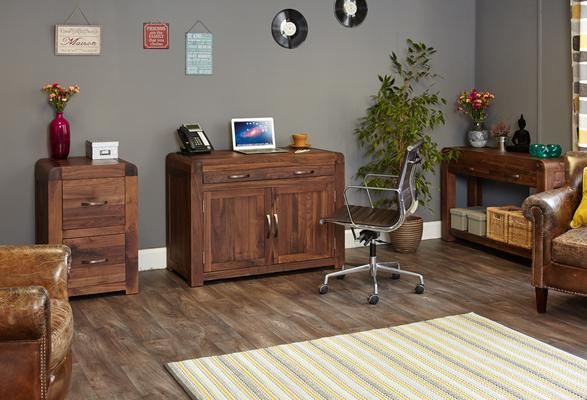 Shiro Walnut Hidden Home Office image 4