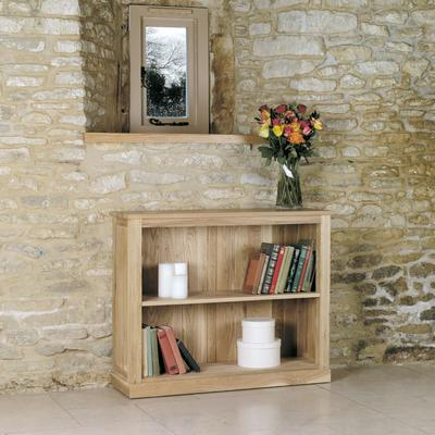 Mobel Solid Oak Modern Low Bookcase image 2
