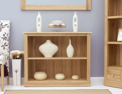 Mobel Solid Oak Modern Low Bookcase image 3