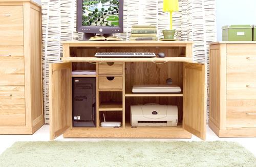 Mobel Oak Hidden Home Office Desk Workstation image 5