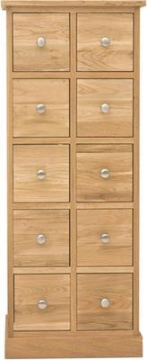 Mobel Oak 10 Drawer DVD / CD Storage Chest image 4