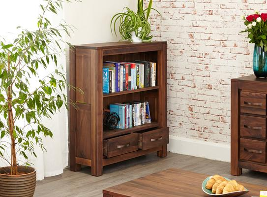 Mayan Walnut Low Bookcase Rustic image 2