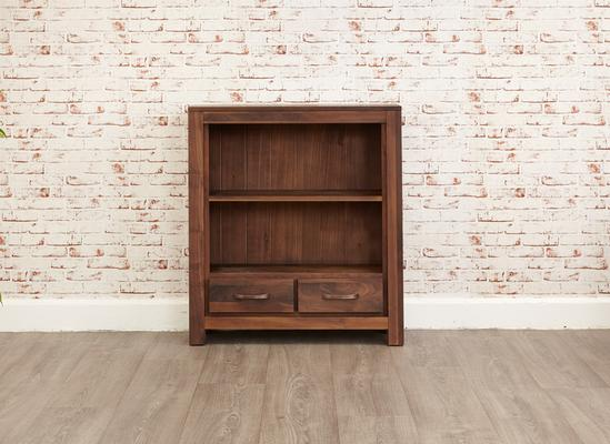 Mayan Walnut Low Bookcase Rustic image 4