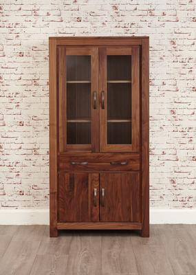 Mayan Walnut Large Glazed Bookcase Rustic image 4