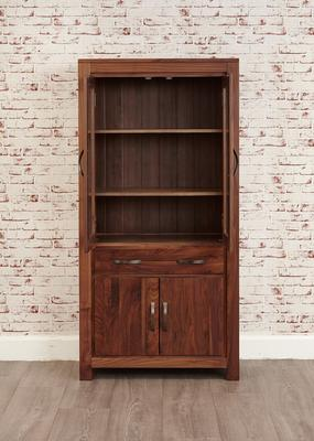 Mayan Walnut Large Glazed Bookcase Rustic image 6