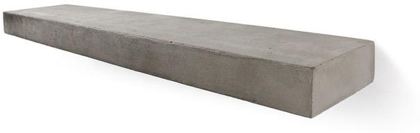 Sliced S Concrete Shelf - Set of 2