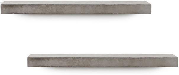 Sliced S Concrete Shelf - Set of 2 image 2