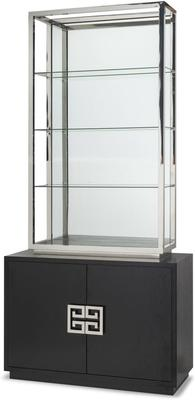 Nobbu Shelving Unit Glass Display Wenge Base