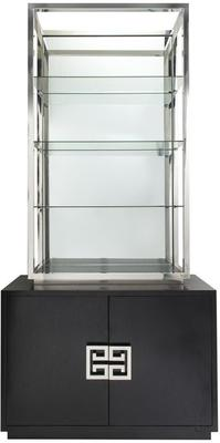 Nobbu Shelving Unit Glass Display Wenge Base image 2
