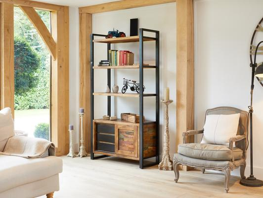 Urban Chic Reclaimed Large Bookcase with Storage