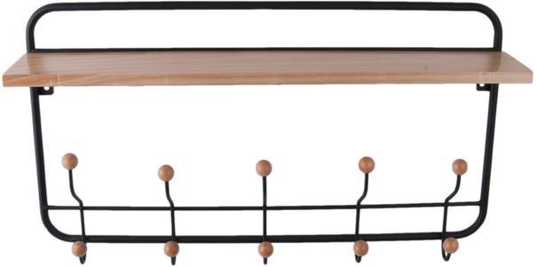 Present Time Coat Rack Shelf - Natural image 2