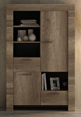 Livorno Bookcase - San Remo Oak Finish