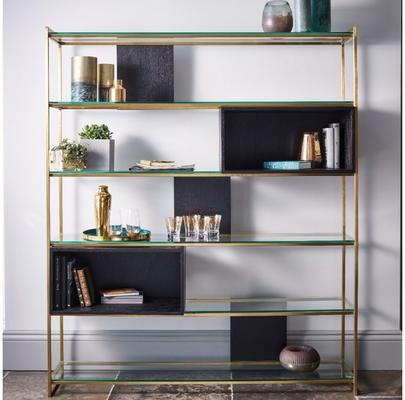Federico High Bookcase Black Oak and Metal image 7