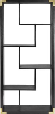 Genoa Modern Geometric Shelving in Black Ash image 2
